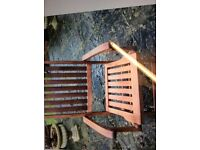 Teak folding ships chairs 6 chairs in great condition