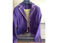 Boden summer jacket with hand stitched trim and contrasting lining