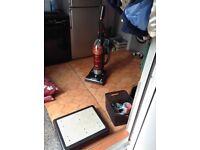 Hoover Sprite 2100w .bagless upright cleaner.5 floor settings including hard floor s