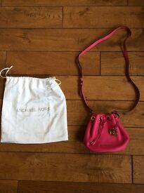 Michael Kors pink cross body shoulder bag