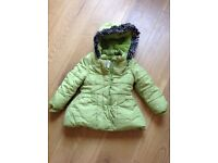 Girls Winter Marks and Spencer Coat 18-24 Months