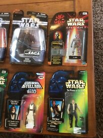 Star Wars figures. 14 in total. Selling as a group not individually.