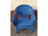 Large blue basket chair : free Glasgow delivery