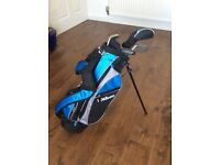 Kids Golf Club set. Wilson J Prostaff HDX Blue Golf Package Set 5-8. Great Condition