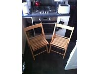 Handmade Foldable Wooden Chairs NEW