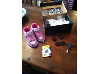 Girls pink heelys size 12 with box and tags