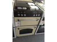 Leisure 60cm cream gas cooker. £349 RRP £549 new/graded 12 month Gtee