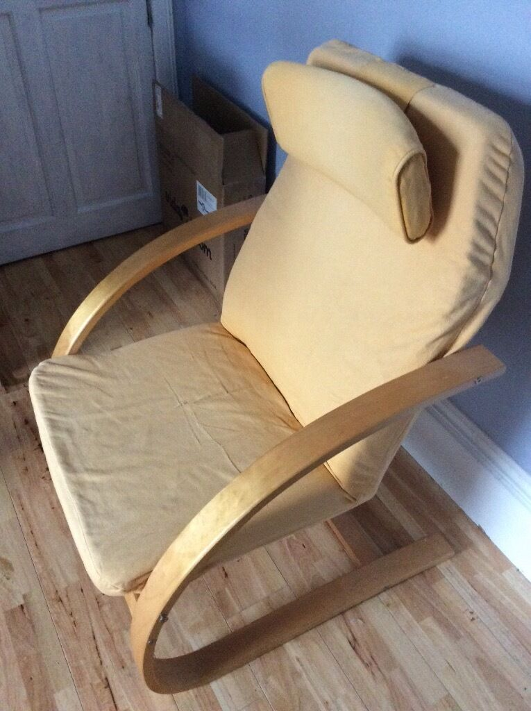 Ikea poang style chair in tayport fife gumtree - Chairs similar to poang ...