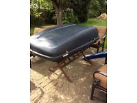 Large car roof box and roof bars