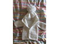 Newborn hand knitted cardigan