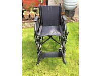 Lightweight folding wheelchair,nearly new