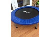 Pro-Fitness Trampette, barely used, very good condition, removable legs for easy flat storage