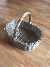 Wicker shopping basket new