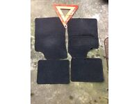 Mercedes Car Mats And Other Car Mats And Safety/ Warning Triangle £5 Bargain!