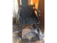 Folding wheelchair in excellent condition