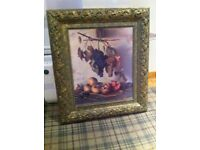Wall art ornately framed still life perfect fot kitchen or elegant lounge. 32 inchesx 28 inches