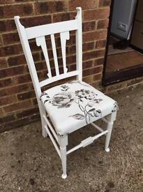 Wood chairs, footstools too, two for sale £10 each