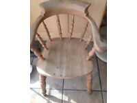 Wooden captains chair