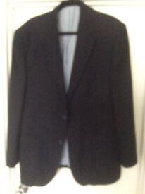 Men's navy blue linen blazer from M&S