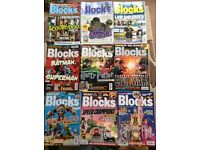 12x official BLOCKS lego magazines