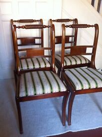 Set of 4 Vintage Dining Chairs / Can Deliver