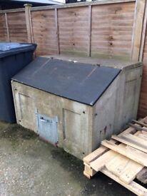 Coal bunker, concrete