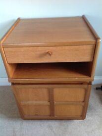 Teak cupboard with shelf and draw