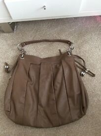 Autograph oversized soft leather handbag