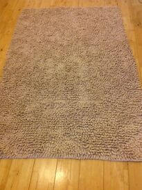 2 X Beige Rugs one large, one small, machine washable
