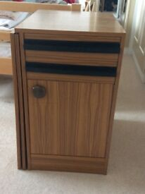 Sewing table , with fold out work surface . Machine pull out base. Cotton reel insert drawer
