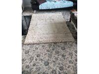 Craft handmade Wool & cotton blend thick rug 120 x 180