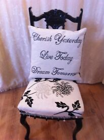 Shabby chic chair.