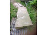 Large stone plinth 69 inch x 24 inch x 3.5 inch