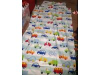 Boy's transport curtains, bedding and accessories