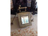 Victorian brass and mirror coal box