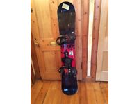 Ride snowboard & Burton Bindings