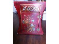 Gorgeous Vintage Oriental Bedside Table / Cabinet