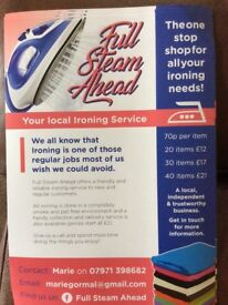 Full Steam Ahead - Ironing Services