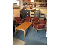 Office table + 4 chairs - excellent condition