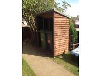 Wheelie Bin/ Wood store shed for a wood burner or general storage