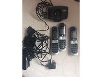 3 x cordless bt telephones.