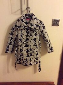 Derhy kids girls designer coat age 4-6 years