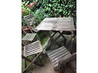 Garden folding table 4 chairs