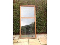 Redwood double glazed window unit.