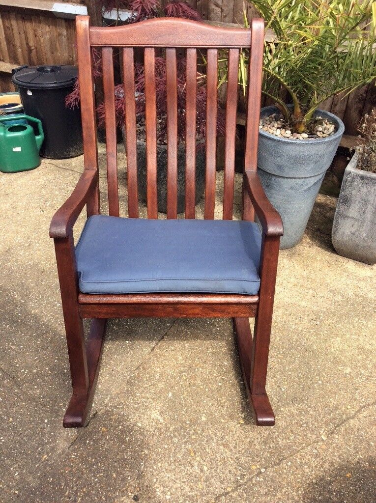 Fabulous Rocking Chair For Use In The Garden Made By Alexander Rose Of Substantial Hard Wood Construction In Poole Dorset Gumtree Machost Co Dining Chair Design Ideas Machostcouk