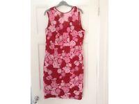 Myleen Class Dress red/pink crochet/ lace size 14. Never worn. Immaculate
