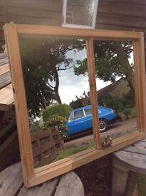 Antique Sash Window Mirror