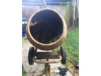 150 electric cement mixer with stand