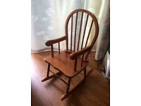 Children's Wooden Rocking Chair