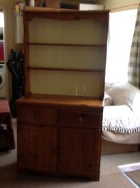 Welsh Pine Dresser, antique pine separates into two halves for easy transport